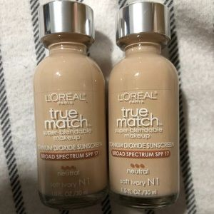 2 Loreal True Match Liquid Makeup SPF 17 N1 Ivory